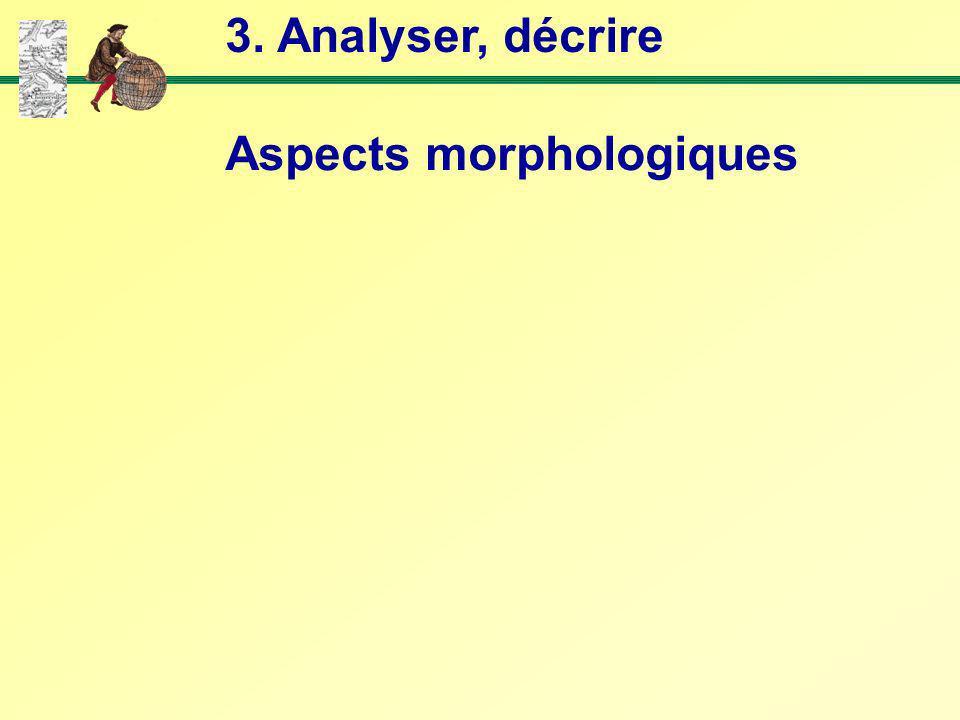 3. Analyser, décrire Aspects morphologiques