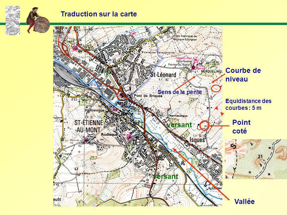 Traduction sur la carte