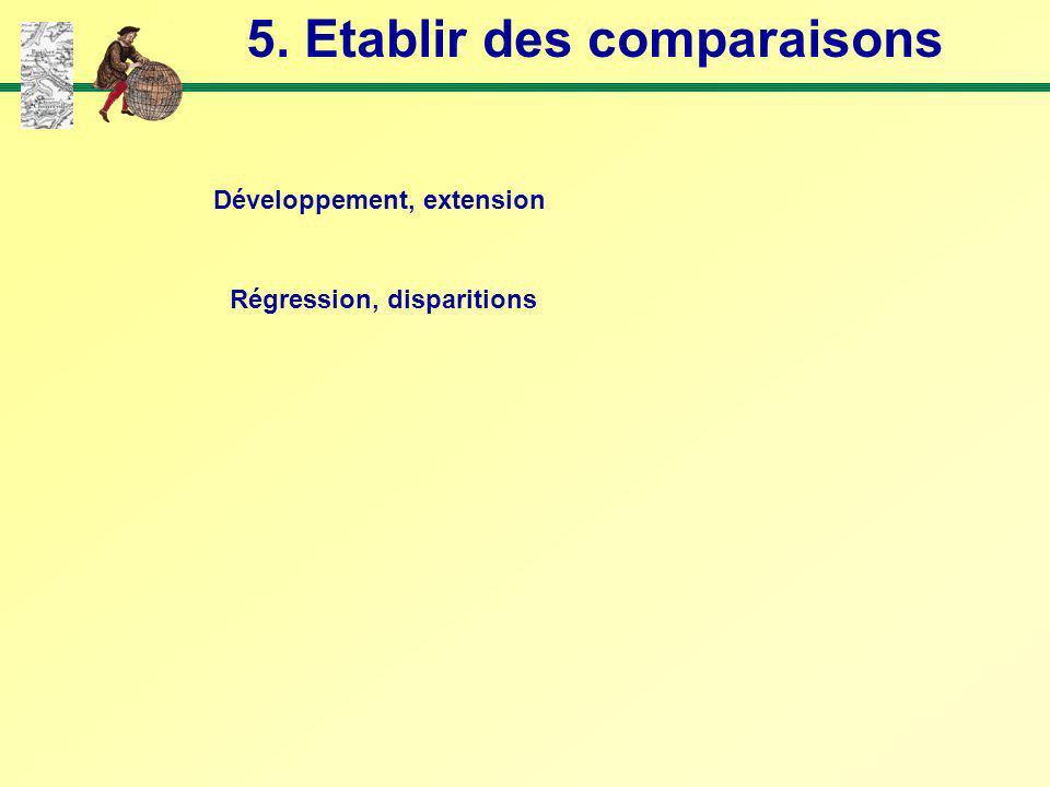 5. Etablir des comparaisons