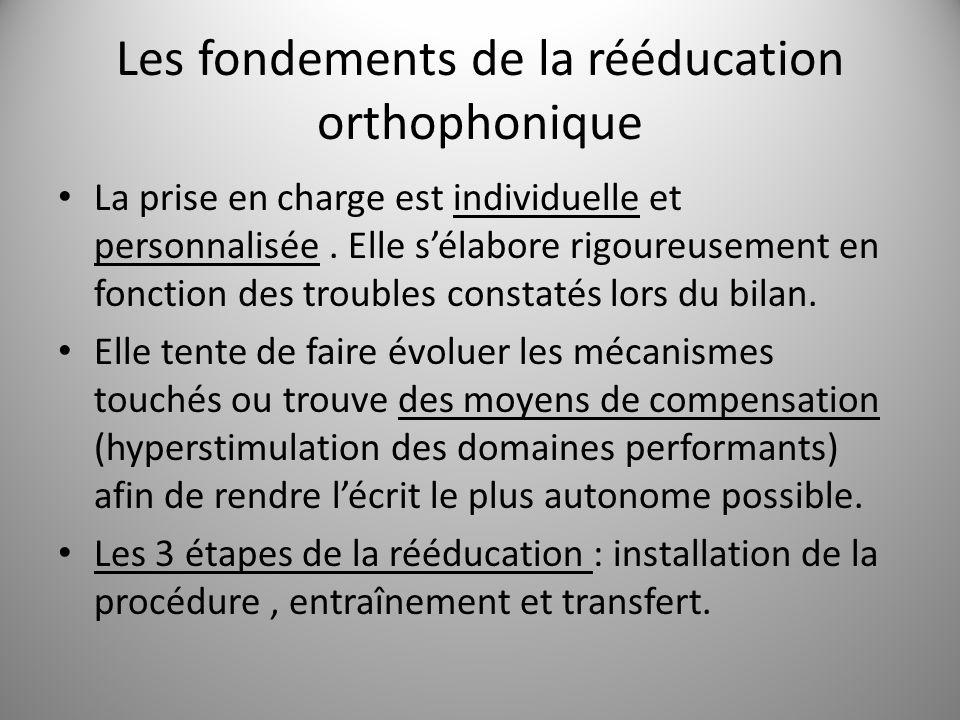 Les fondements de la rééducation orthophonique