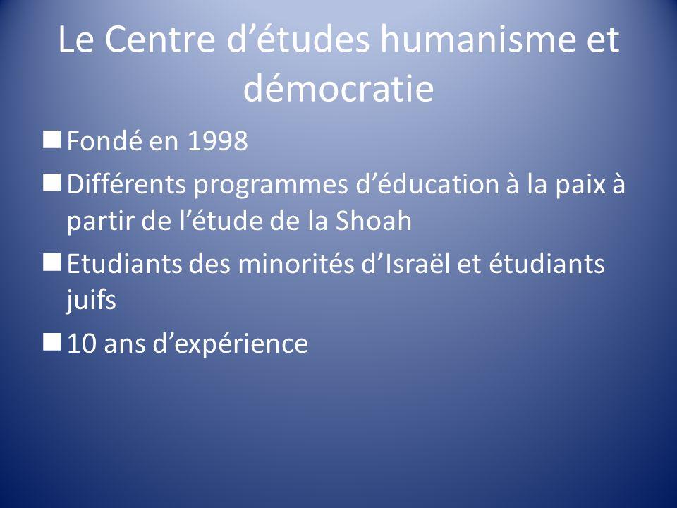 Le Centre d'études humanisme et démocratie