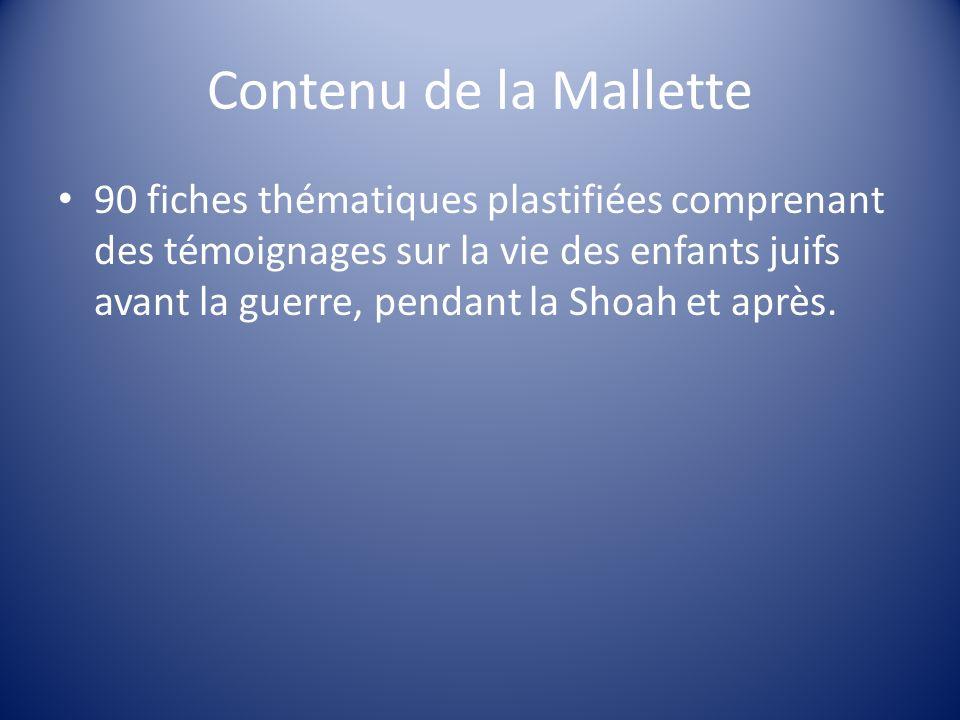 Contenu de la Mallette