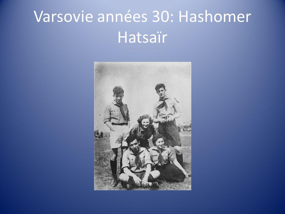 Varsovie années 30: Hashomer Hatsaïr