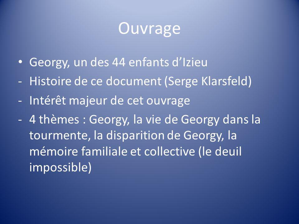 Ouvrage Georgy, un des 44 enfants d'Izieu