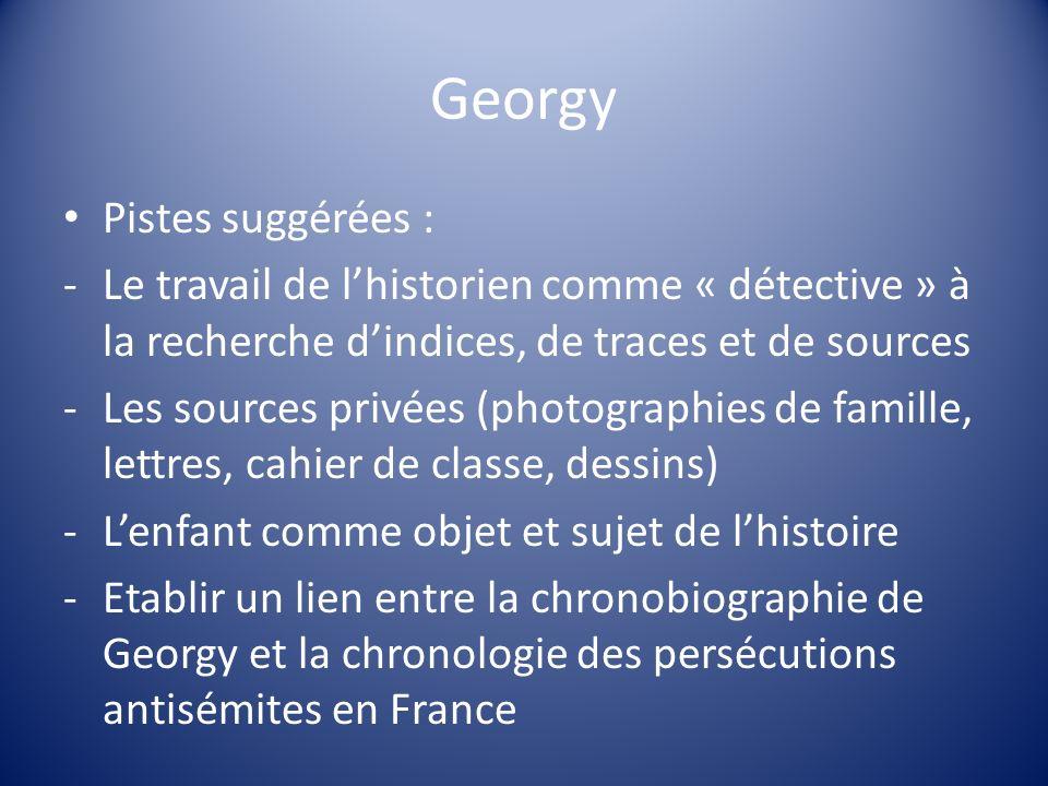 Georgy Pistes suggérées :