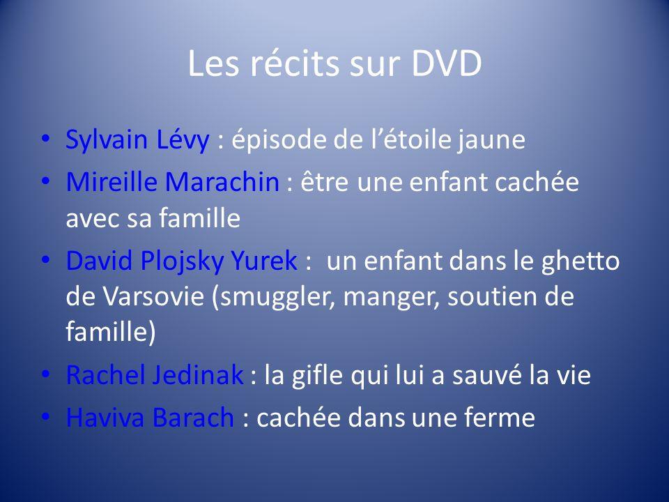 Les récits sur DVD Sylvain Lévy : épisode de l'étoile jaune