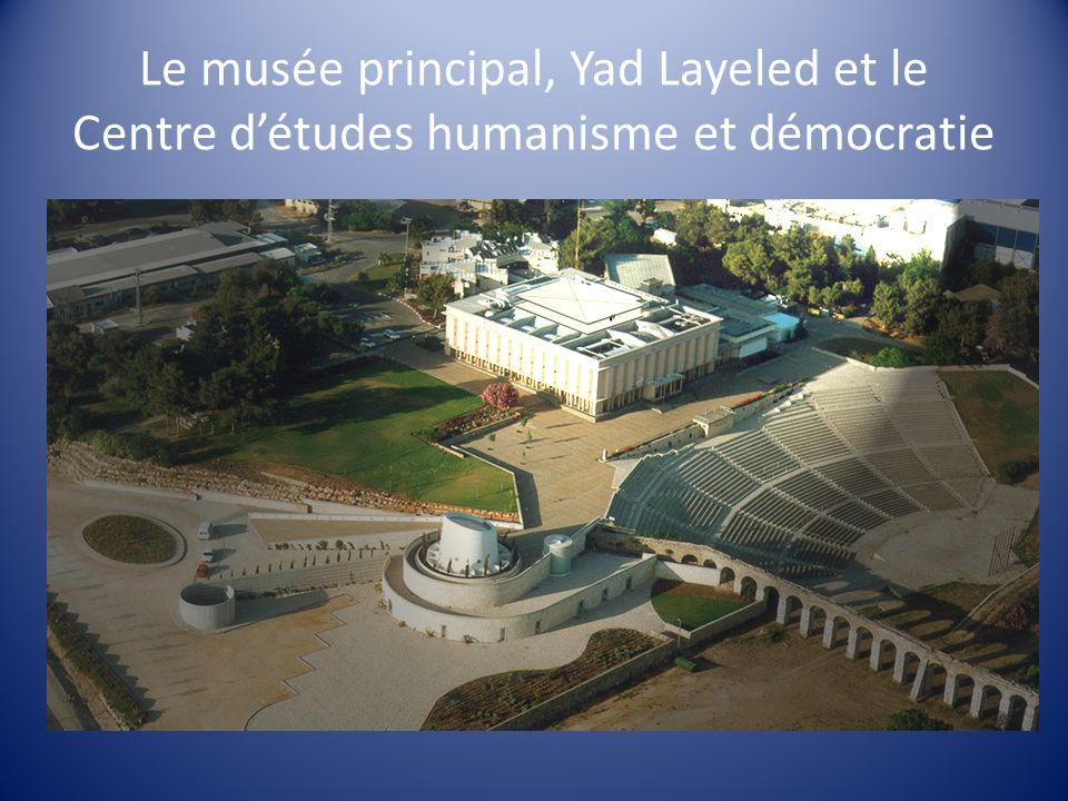 Le musée principal, Yad Layeled et le Centre d'études humanisme et démocratie