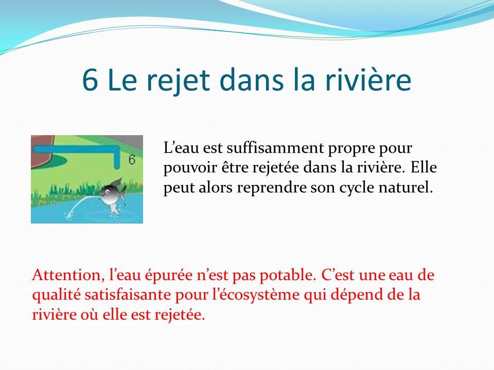 6 Le rejet dans la rivière