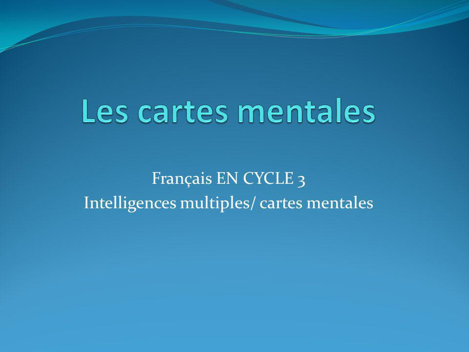 Français EN CYCLE 3 Intelligences multiples/ cartes mentales
