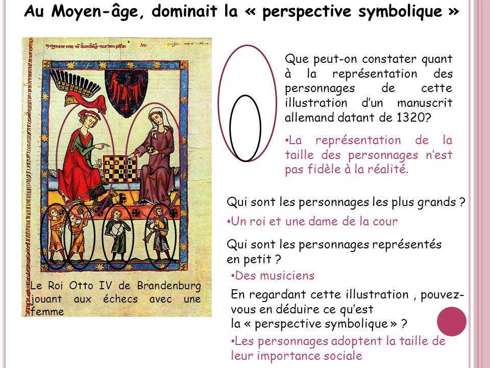 Au Moyen-âge, dominait la « perspective symbolique »