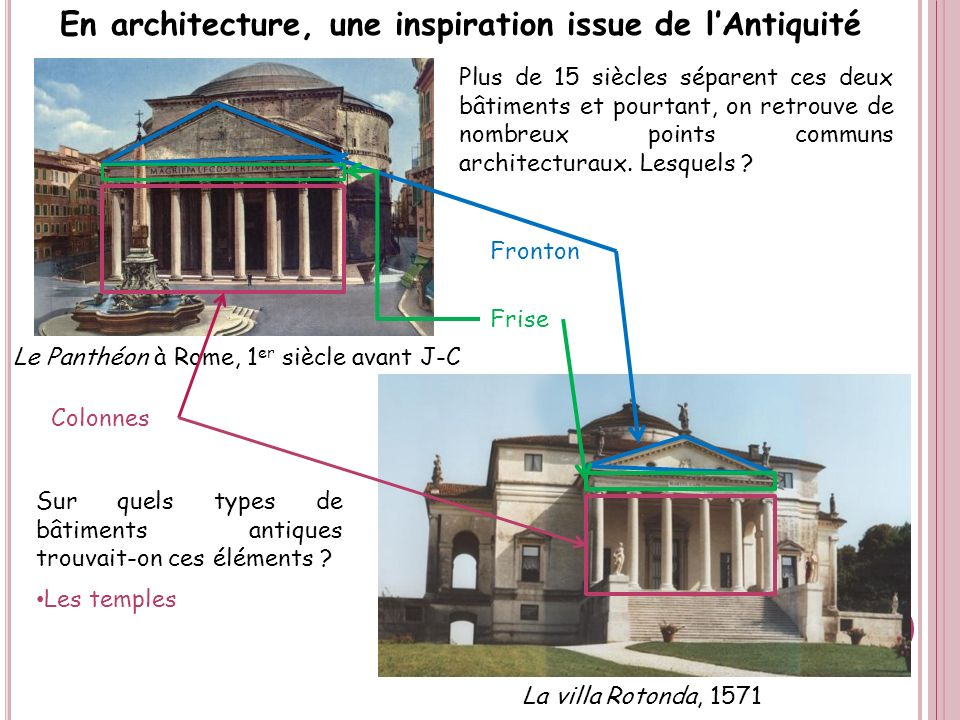 En architecture, une inspiration issue de l'Antiquité