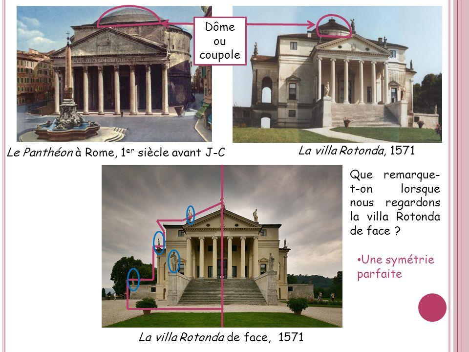 La villa Rotonda de face, 1571