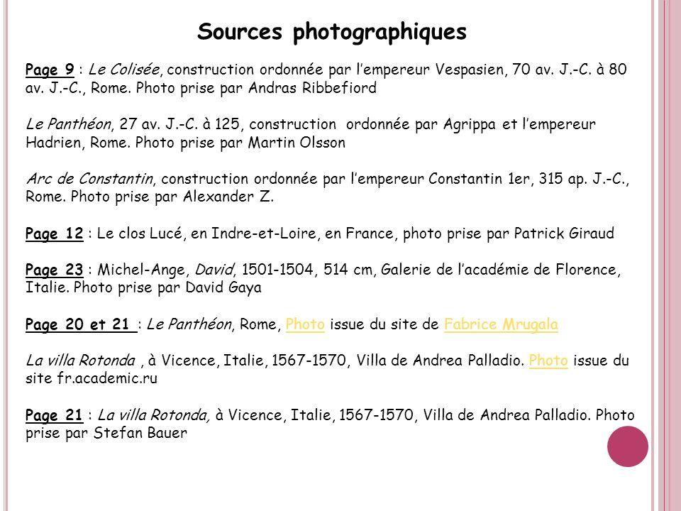 Sources photographiques