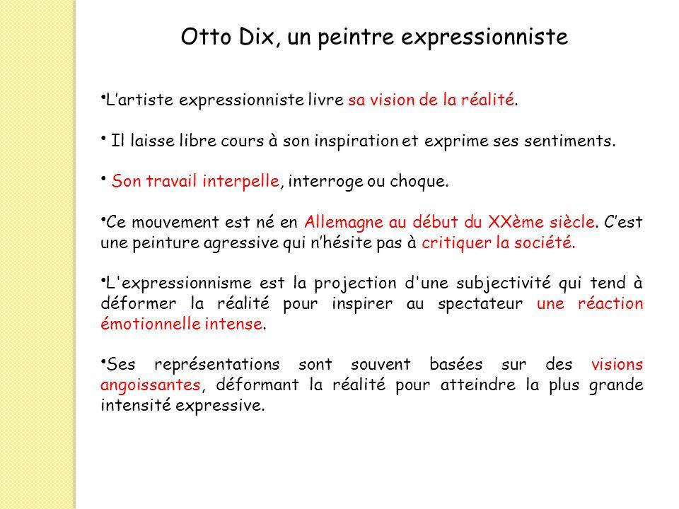 Otto Dix, un peintre expressionniste