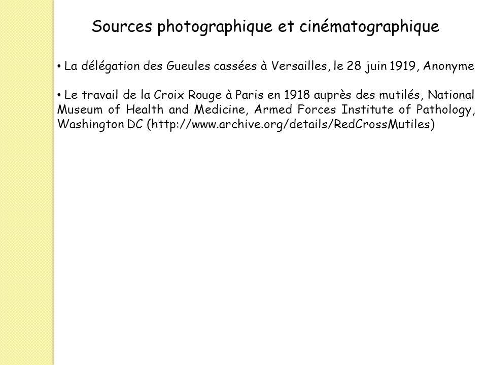Sources photographique et cinématographique
