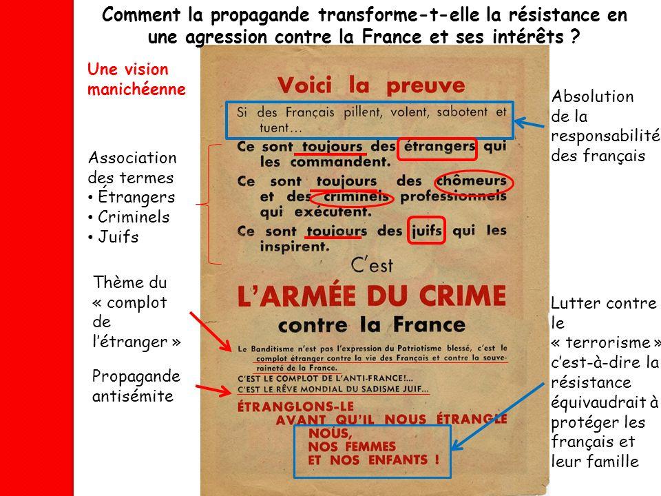 Comment la propagande transforme-t-elle la résistance en une agression contre la France et ses intérêts