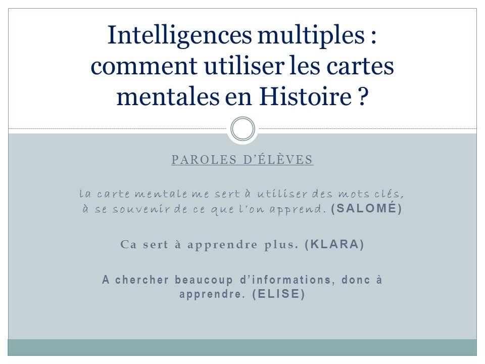 Intelligences multiples : comment utiliser les cartes mentales en Histoire