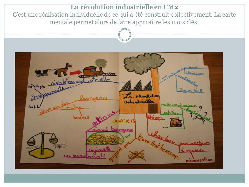 La révolution industrielle en CM2 C'est une réalisation individuelle de ce qui a été construit collectivement.