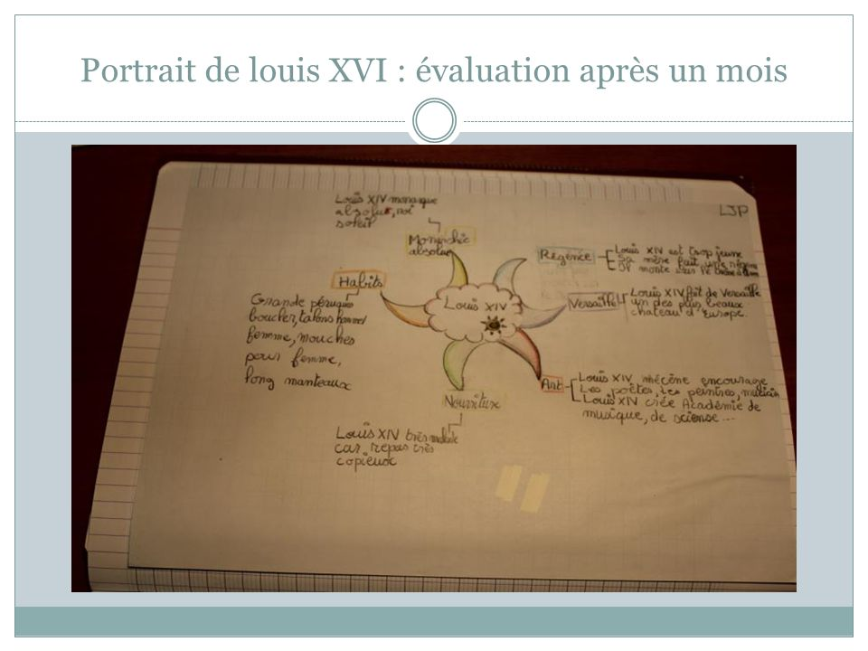 Portrait de louis XVI : évaluation après un mois