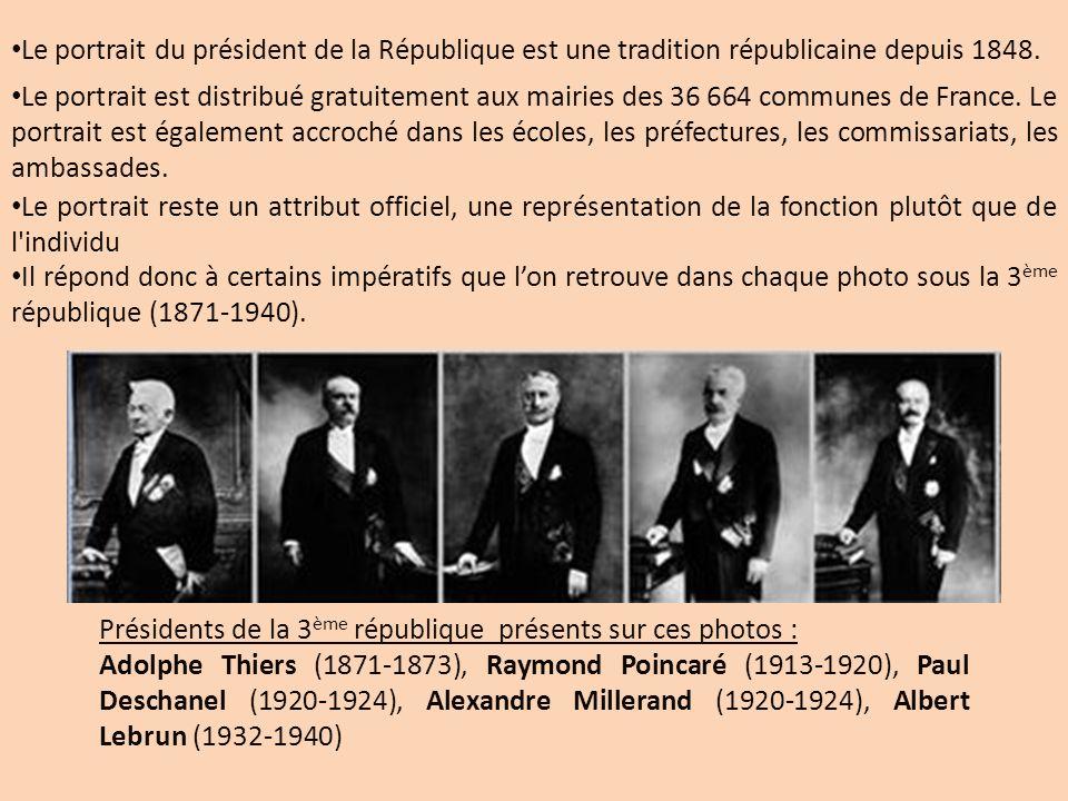 Le portrait du président de la République est une tradition républicaine depuis 1848.