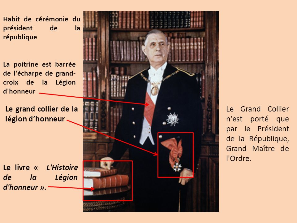 Le grand collier de la légion d'honneur