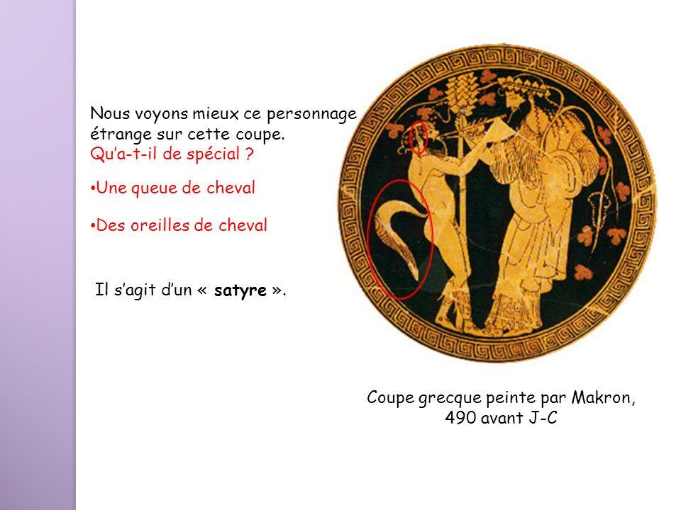 Coupe grecque peinte par Makron,