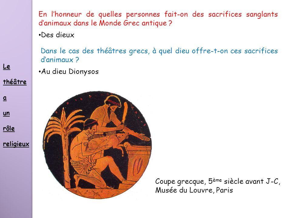 Coupe grecque, 5ème siècle avant J-C, Musée du Louvre, Paris