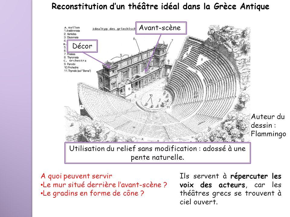 Reconstitution d'un théâtre idéal dans la Grèce Antique
