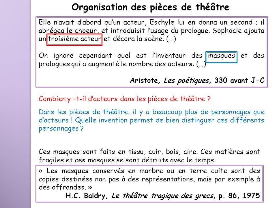 Organisation des pièces de théâtre