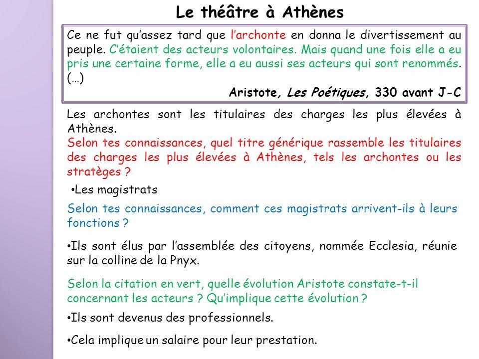 Le théâtre à Athènes