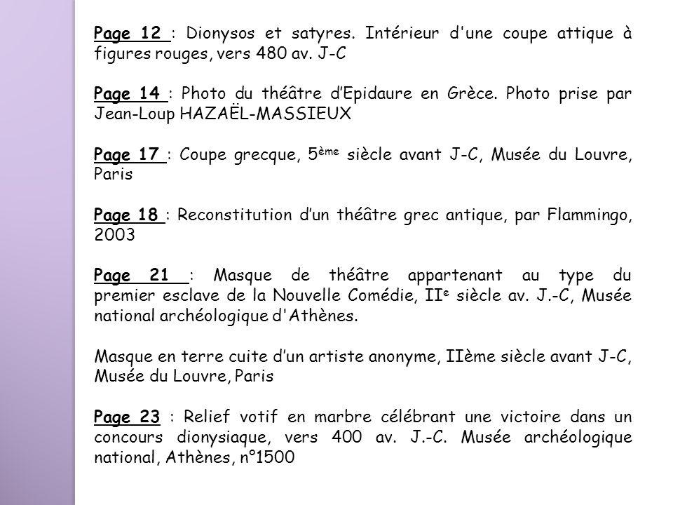 Page 12 : Dionysos et satyres