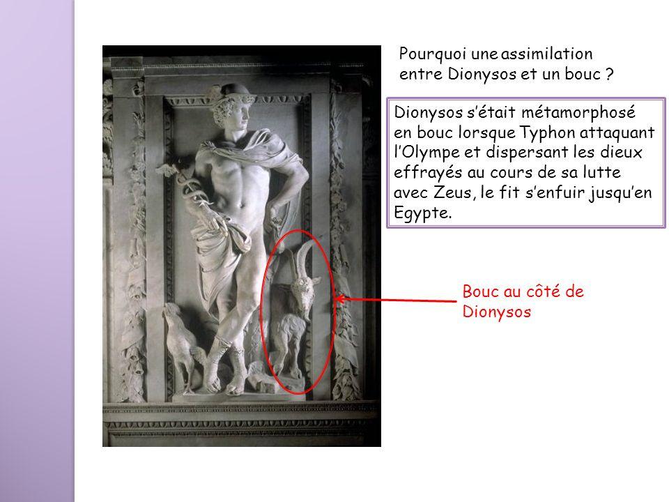 Pourquoi une assimilation entre Dionysos et un bouc