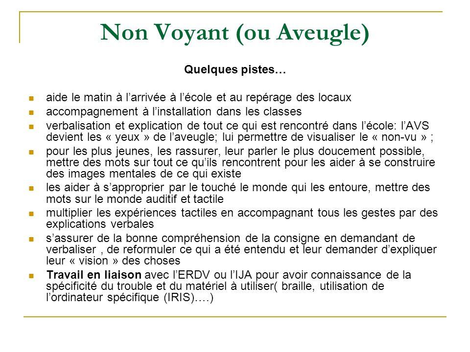 Non Voyant (ou Aveugle)