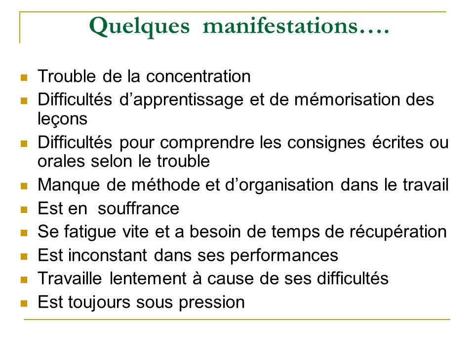 Quelques manifestations….