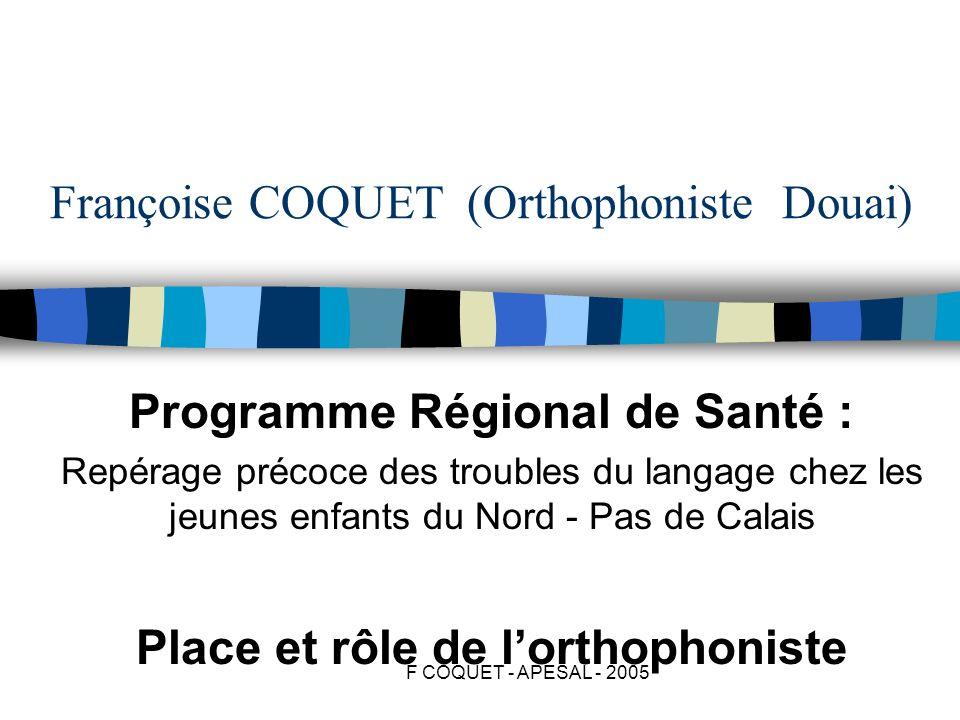 Françoise COQUET (Orthophoniste Douai)