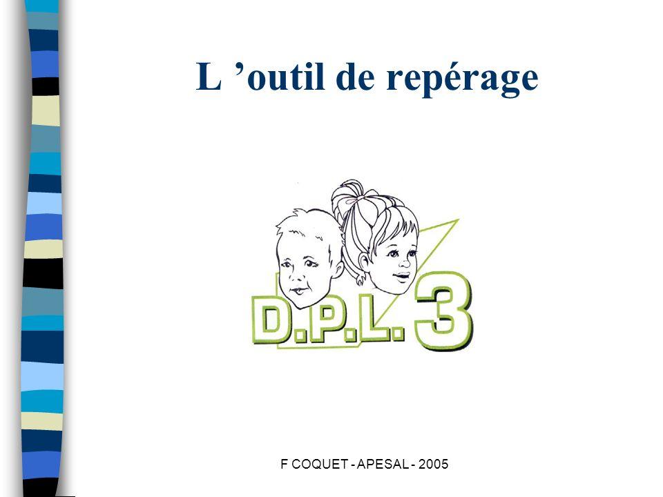 L 'outil de repérage F COQUET - APESAL - 2005