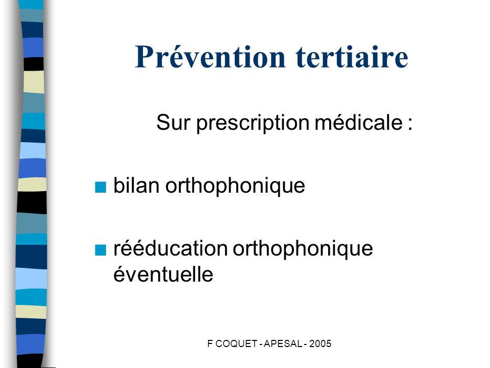 Sur prescription médicale :