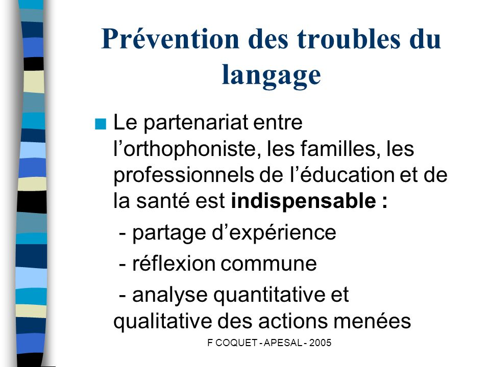 Prévention des troubles du langage