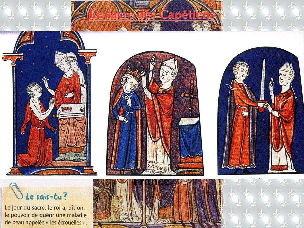 Le couronnement d un roi comportait plusieurs étapes :