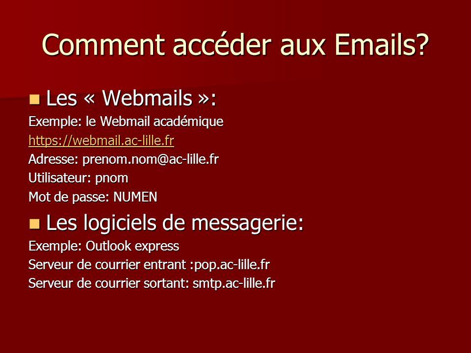 Comment accéder aux Emails