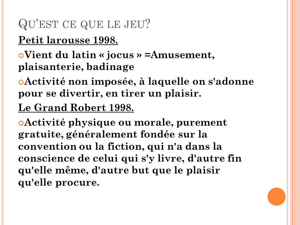 Qu'est ce que le jeu Petit larousse 1998.
