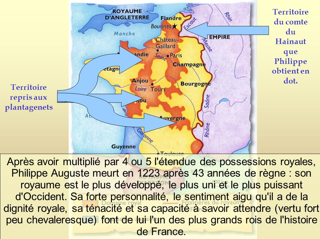 Territoire du comte du Hainaut que Philippe obtient en dot.