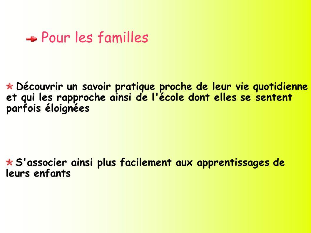 Pour les familles
