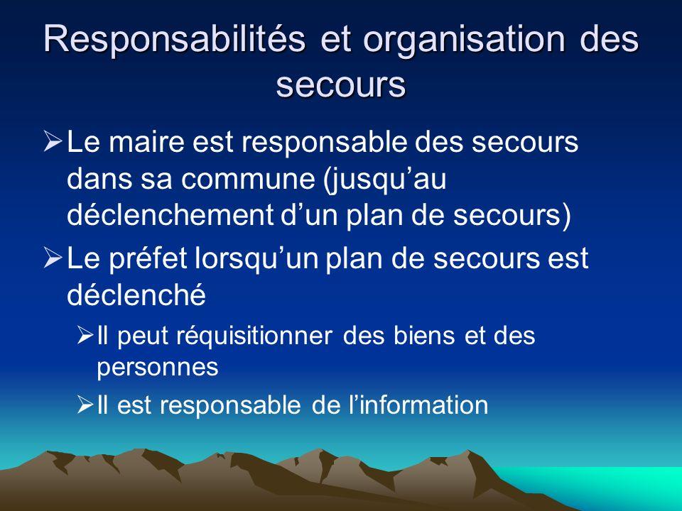 Responsabilités et organisation des secours