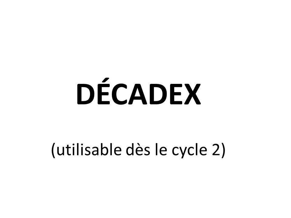 (utilisable dès le cycle 2)