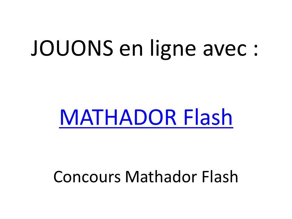 Concours Mathador Flash