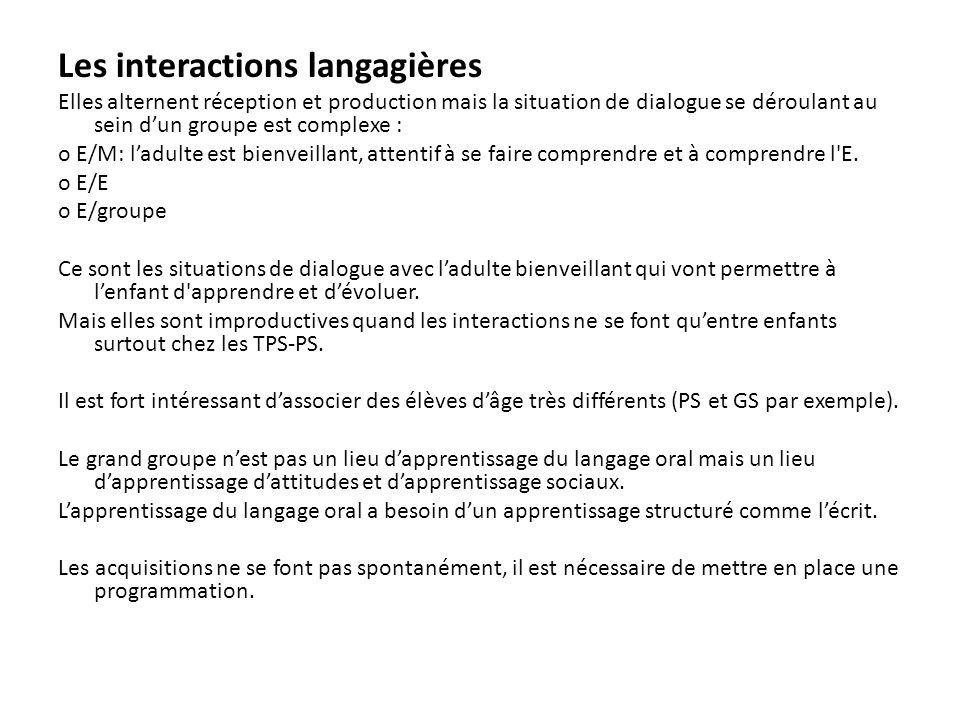 Les interactions langagières