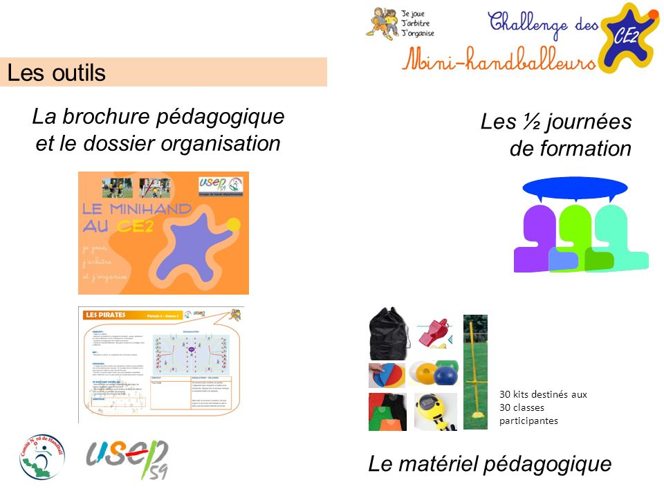 Les outils La brochure pédagogique et le dossier organisation