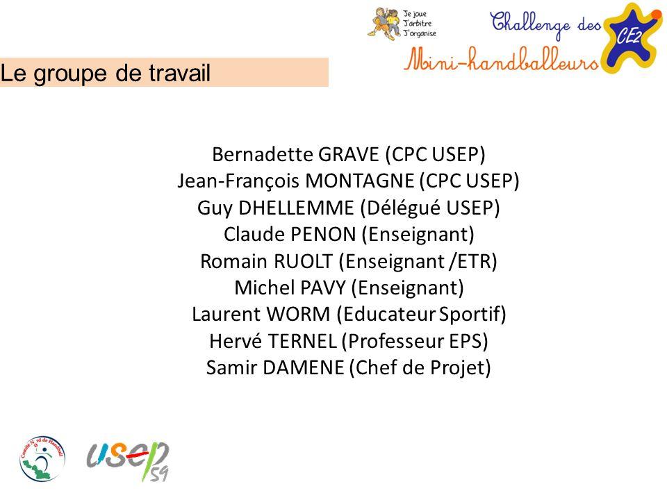 Le groupe de travail Bernadette GRAVE (CPC USEP)