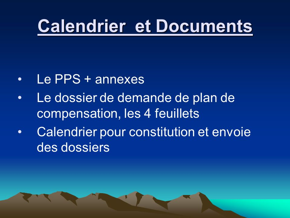 Calendrier et Documents